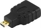 DELTACO HDMI High Speed with Ethernet adapter, Micro HDMI ur - HDMI na