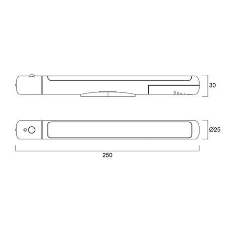 Gizmo | cabinet sense linear | 4000k | ip20 | battery operated - Sylvania - kuva 5