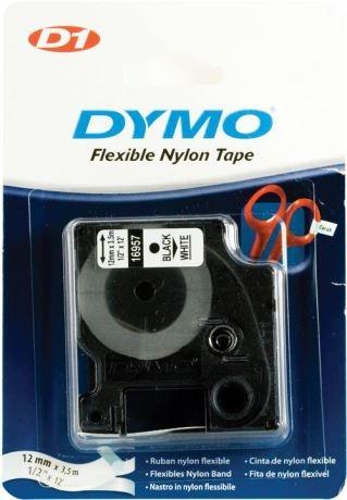 DYMO D1 merkkausteippi, nylon, 12 mm, 3,5 m - DYMO - kuva 1