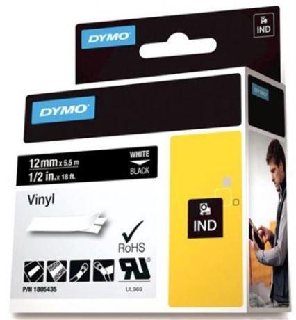 DYMO Rhino Professional, 12mm, merkkausteippi, valk.teksti must.teippi - DYMO - kuva 1