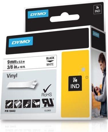 DYMO Rhino Professional, pysyvä merkkausteippi,vinyylitarra, 9mm - DYMO - kuva 1