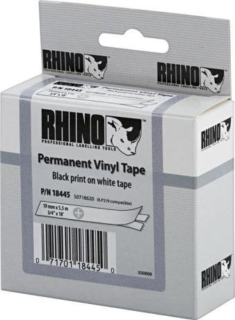 DYMO Rhino Professional, merkkausteippi, vinyyliä, 19 mm, valk - DYMO - kuva 1
