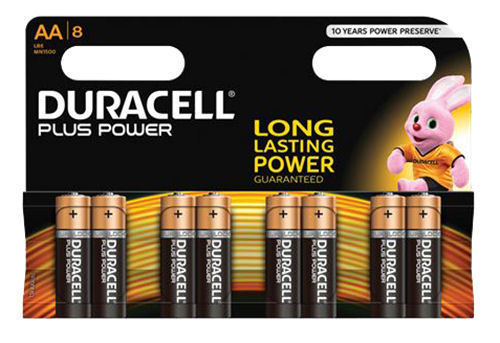 Duracell Plus Power AA Batteries, 8pk | 022911 | DURACELL