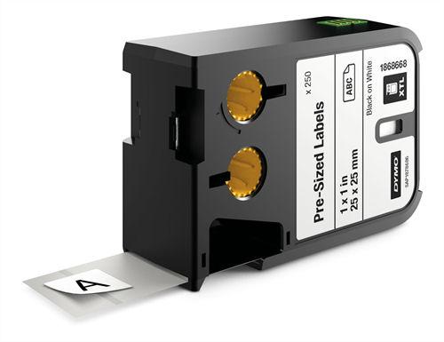 DYMO XTL kestävä tarra, 12x25mm, 250kpl, musta valk. taustalla - DYMO - kuva 1