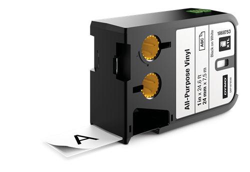 DYMO XTL Monikäyttöinen vinyylitarra, 24mm, musta teksti, valk. tausta - DYMO - kuva 1