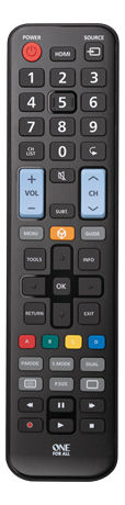 One For All URC 1910 Remote Control Replacement, Samsung | 11-1910-0000-100 | ONE FOR ALL