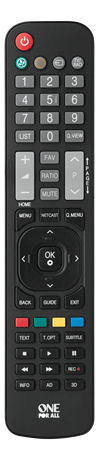 One For All URC 1911 Remote Control Replacement, LG | 11-1911-0000-100 | ONE FOR ALL