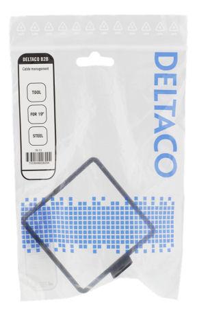 """DELTACO kaapelinkannatin, soveltuu 19"""" räkkiin, 80x80mm, metallia - DELTACO - kuva 2"""