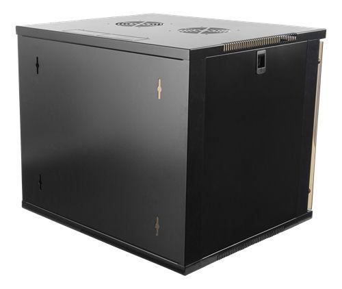 """DELTACO 19"""" räkkikaappi, 9U, 540x450mm, lattiamall. tai seinälle as. - DELTACO - kuva 3"""