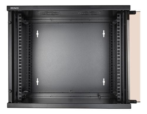 """DELTACO 19"""" räkkikaappi, 9U, 540x450mm, lattiamall. tai seinälle as. - DELTACO - kuva 4"""