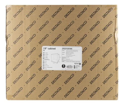 """DELTACO 19"""" räkkikaappi, 9U, 540x450mm, lattiamall. tai seinälle as. - DELTACO - kuva 6"""