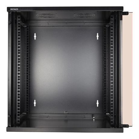 """DELTACO 19"""" räkkikaappi, 12U, 540x450mm, lattiamall. tai seinälle as. - DELTACO - kuva 4"""