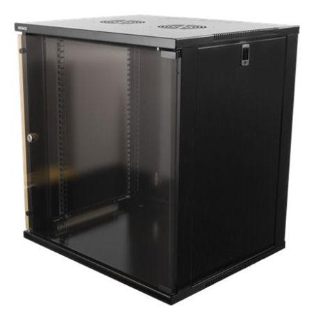 """DELTACO 19"""" räkkikaappi, 12U, 540x450mm, lattiamall. tai seinälle as. - DELTACO - kuva 1"""