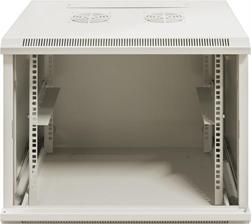 """TOTEN 19"""" seinäkaappi,9U, 600x450, lasiovi, valkoinen - TOTEN - kuva 4"""