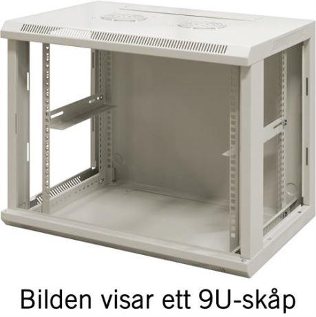 """TOTEN 19"""" seinäkaappi,12U, 600x450, lasiovi, valkoinen - TOTEN - kuva 3"""