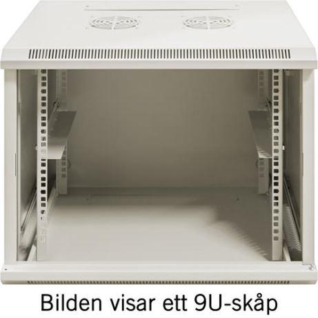 """TOTEN 19"""" seinäkaappi,12U, 600x450, lasiovi, valkoinen - TOTEN - kuva 4"""