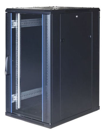 "TOTEN System G, 19"" lattiakaappi, 22U, 600x1000, lasi ed., met. takana - TOTEN - kuva 1"