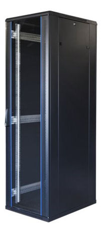 "TOTEN System G, 19"" lattiakaappi, 42U, 600x1000, lasi ed., met. takana - TOTEN - kuva 1"