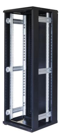 """TOTEN G9, 19"""" lattiakaappi, 37U, 600x600, las. etuovi, metall. takaovi - TOTEN - kuva 3"""