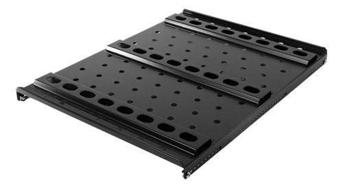 """TOTEN System G kiinteä hylly 19"""" räkkiin, 1000/1200 mm, 100kg, musta - TOTEN - kuva 2"""