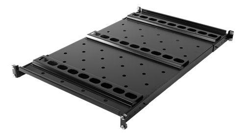 """TOTEN System G kiinteä hylly 19""""räkkiin, 1000/1200 mm, 100kg, musta - TOTEN - kuva 2"""