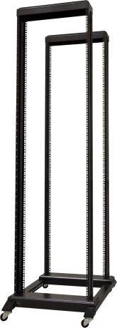 """TOTEN 19"""" lattiateline, pyörät, 42U, 600x800mm, osina, musta - TOTEN - kuva 1"""