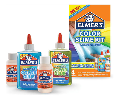 "ELMERS - 2109494 - ELMER""S TRANSLUCENT COLOR SLIME KIT -  - kuva 1"