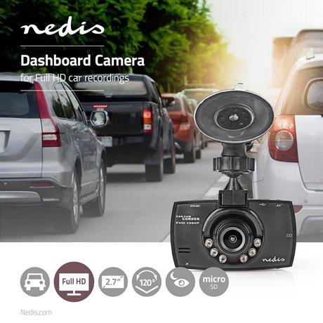 """Autokamera full hd 1080p 2.7"""" näyttö katselukulma 120° - Nedis - kuva 2"""