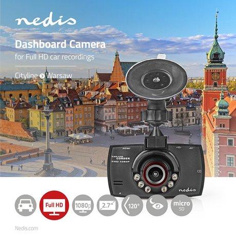 """Autokamera full hd 1080 p 2,7"""" näyttö katselukulma 120° - Nedis - kuva 2"""