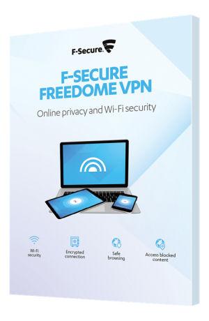 F-Secure Freedome VPN, 1 vuosi, 3 laitetta, rajoittamaton käyttö - F-Secure - kuva 1