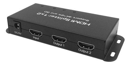DELTACO HDMI 1.4 -jakaja, 1 sisääntulo ja 2 ulostuloa, 4K 30Hz, musta - DELTACO - kuva 1