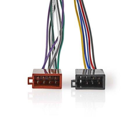 Sony, 16-nastainen iso-kaapeli radioliitin - 2 x autoliitin 0,15 m moniväri - Nedis - kuva 1