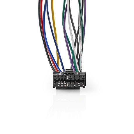 Sony, 16-nastainen iso-kaapeli radioliitin - 2 x autoliitin 0,15 m moniväri - Nedis - kuva 2