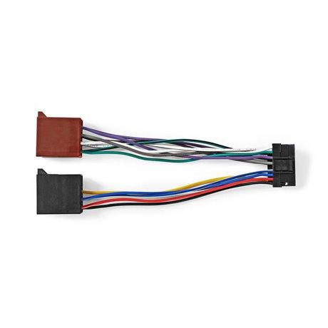 Sony, 16-nastainen iso-kaapeli radioliitin - 2 x autoliitin 0,15 m moniväri - Nedis - kuva 4