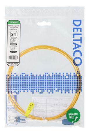 DELTACO OS2-kuitukaapeli, LC - LC, duplex, yksimuoto, APC, 9/125, 2m - DELTACO - kuva 2