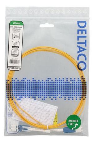 DELTACO kuitukaapeli, LC-LC, push-pull, duplex, OS2, 3m - DELTACO - kuva 2