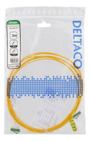 DELTACO OS2-kuitukaapeli, LC – LC, simplex, yksimuoto, APC, 9/125, 3m - DELTACO - kuva 2