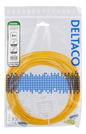 DELTACO OS2-kuitukaapeli, LC – LC, simplex, yksimuoto, UPC, 9/125, 8m - DELTACO - kuva 2