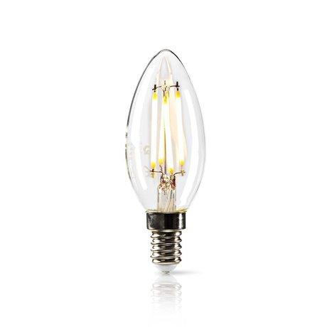 Himmennettävä led-retrohehkulamppu e14 kynttilä 4,8 w 470 lm - Nedis - kuva 1