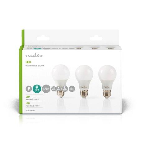 Led-lamppu e27 a60 5,7 w 470 lm 3-pakkaus - Nedis - kuva 2