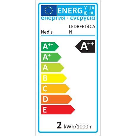 Led-retrohehkulamppu e14 kynttilä 2.5 w 250 lm - Nedis - kuva 5