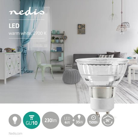 Led-lamppu gu10 par 16 4 w 230 lm - Nedis - kuva 2