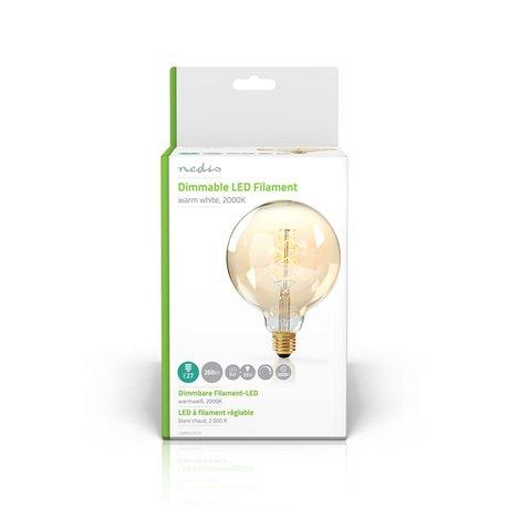 Himmennettävä led-vintagehehkulamppu e27 g125 5 w 260 lm - Nedis - kuva 2