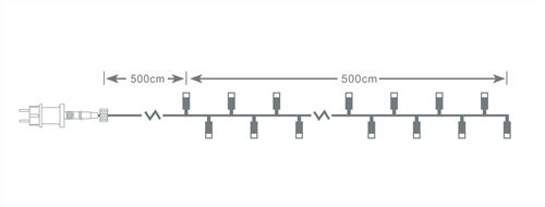 NORDIC HOME LED-valosarja, 5m, IP44, valkoinen - NordicHome - kuva 5