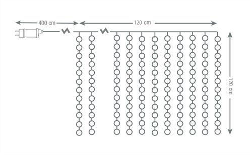 NORDIC HOME LED-valoverho, 120x120cm, IP44, valkoinen - NordicHome - kuva 5