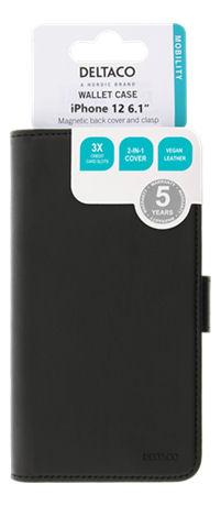 DELTACO 2-osainen lompakkokotelo iPhone 12:lle/12 Prolle, magn.kuori - DELTACO - kuva 7