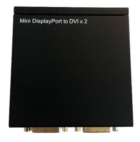 Mini DisplayPort to DVI Splitter, Two DVI-I outputs, Full HD, 2,2 Gbps - DELTACO - kuva 1