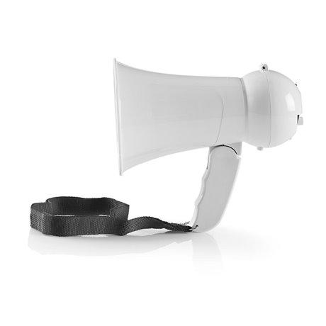 Megafoni 15 w kantama 100 m sisäänrakennettu mikrofoni valkoinen - Nedis - kuva 1