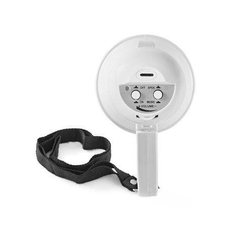 Megafoni 15 w kantama 100 m sisäänrakennettu mikrofoni valkoinen - Nedis - kuva 3