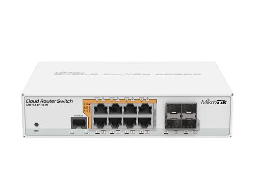 MikroTik Cloud Router 8-Port Gigabit Switch, PoE, 4x SFP, 70W, white - Mikrotik - kuva 1